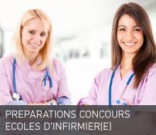 PRÉPARATIONS CONCOURS ECOLES INFIRMIER(E)
