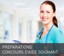 PRÉPARATIONS CONCOURS ÉCOLE D'AIDE SOIGNANT