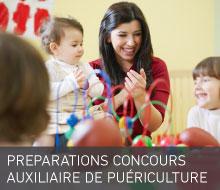 PRÉPARATIONS CONCOURS ÉCOLES D'AUXILIAIRE DE PUÉRICULTURE