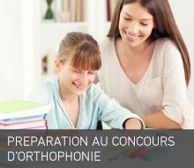 PREPARATION AU CONCOURS D'ORTHOPHONIE