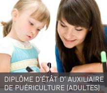 DIPLÔME D'ÉTÂT D'AUXILIAIRE DE PUERICULTURE (Pour Adultes)