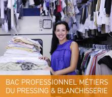 BAC PROFESSIONNEL MÉTIERS DU PRESSING ET DE LA BLANCHISSERIE